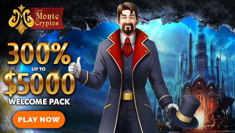 Claim A Huge 300% Welcome Bonus Worth Up To $/€5000 At MonteCryptos Casino