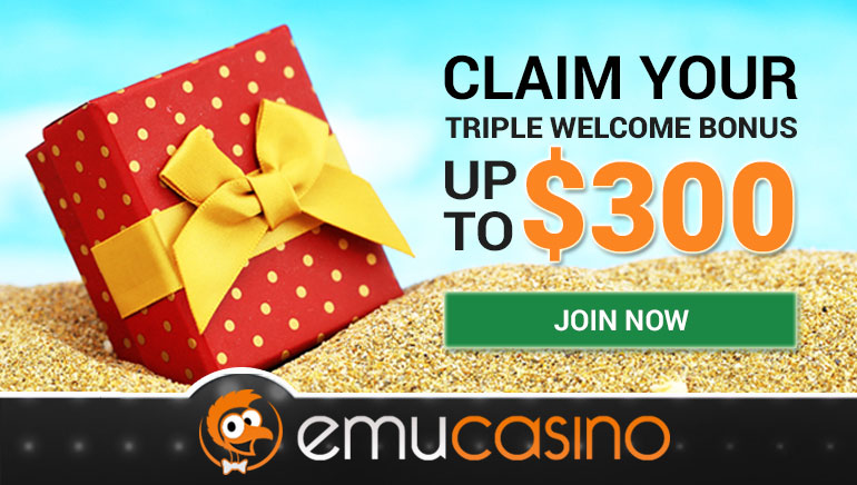 EmuCasino Celebrates New Site Relaunch with $300 Bonus
