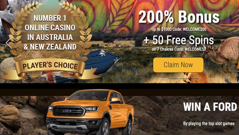 Win a Ford F150 at Grand Rush Casino Australia