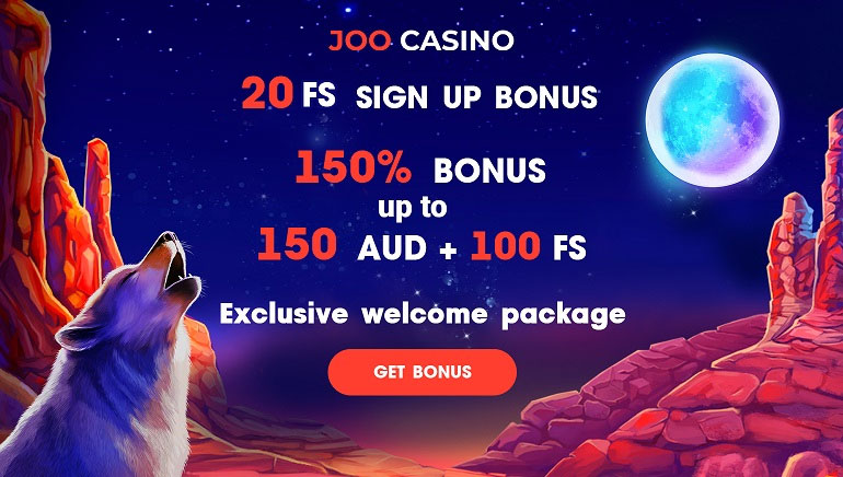 Joo Casino - Get 20 Free Spins on Signup