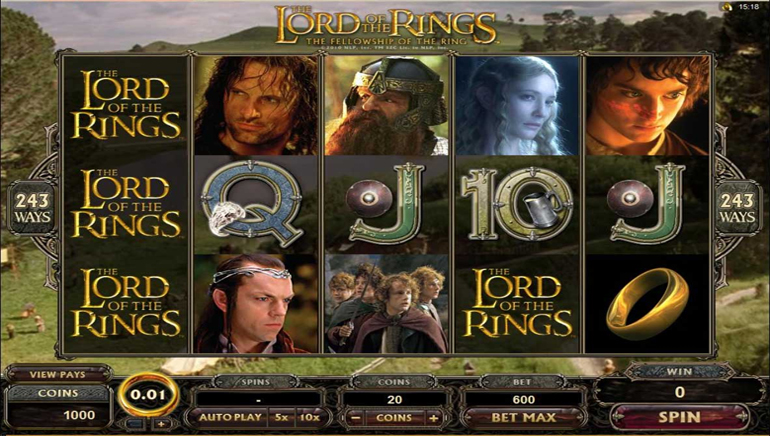 Lord of the Rings Video Slot Launched
