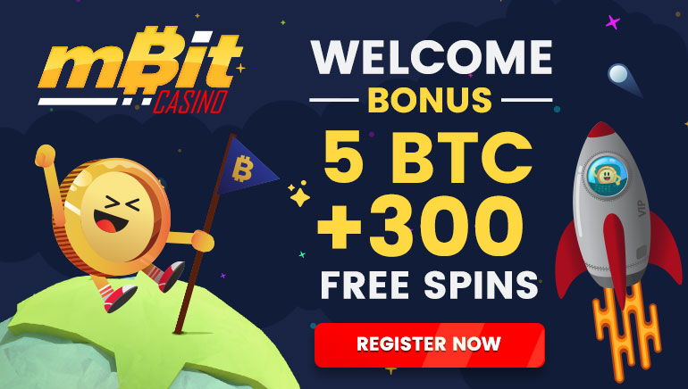 mBit Casino is Offering 5 Bitcoin + 300 Free Spins