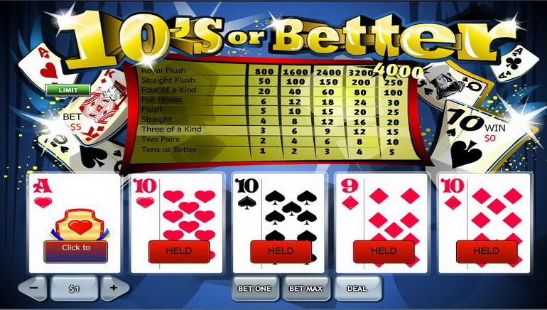 Play Free Online Video Poker Online Casino Games