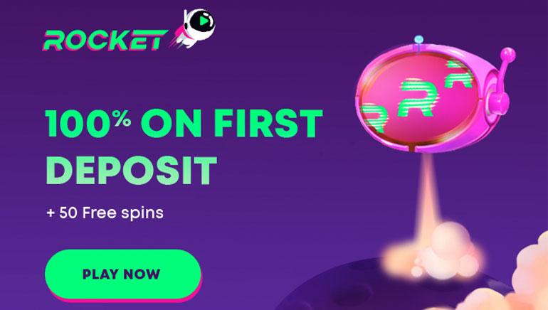 Casino Rocket - Get 100% Bonus On First Deposit + 50 Free Spins