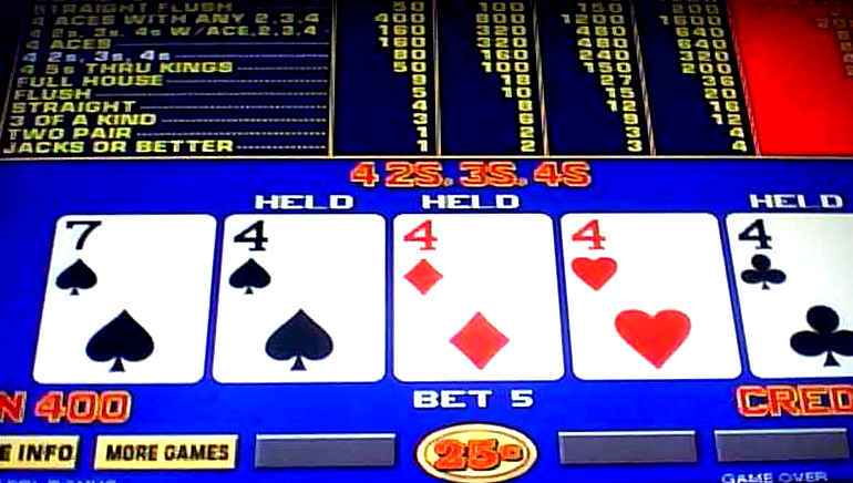 Play 4-Line Jacks or Better Video Poker at Casino.com Australia